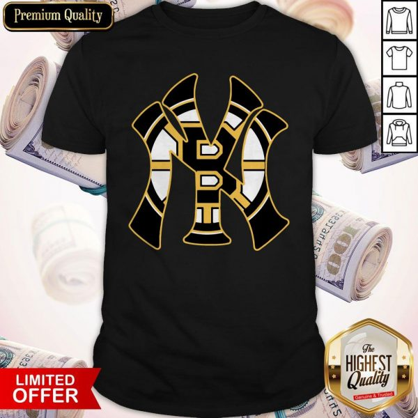 Nice Boston Bruins Inside New York Yankees Shirt