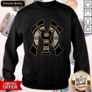Nice Boston Bruins Inside New York Yankees Sweatshirt