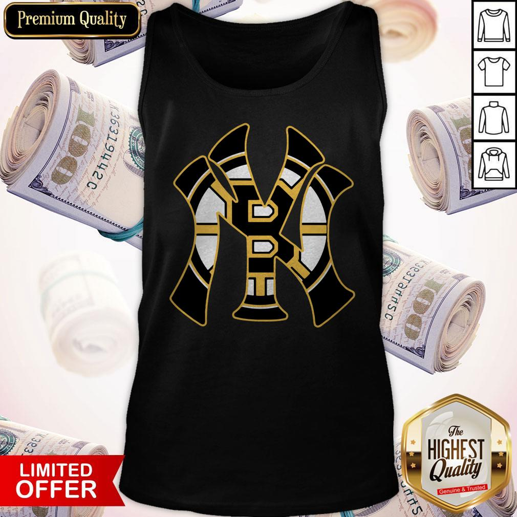 Nice Boston Bruins Inside New York Yankees Tank Top