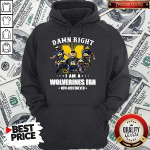 Official Damn Right I Am A Wolverines Fan Now And Forever Hoodie