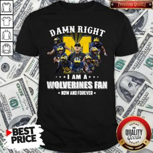Official Damn Right I Am A Wolverines Fan Now And Forever Shirt