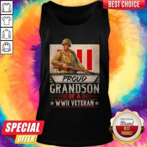 Official Proud Grandson Of A Wwii Veteran Tank Top