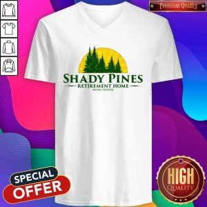 Official Shady Pines Retirement Home Miami Florida V-neck