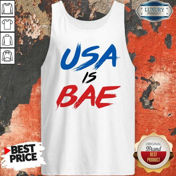 Official Usa Is Bea Blue Black Red Tank Top