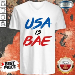 Official Usa Is Bea Blue Black Red V-neck