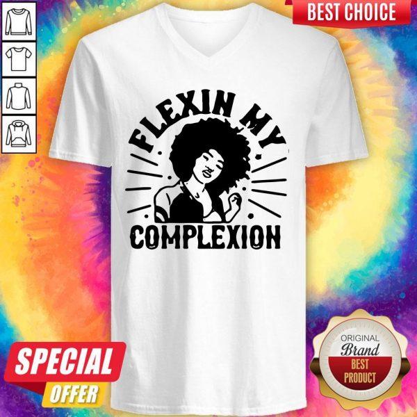 Original Flexin My Complexion Meaning Black V-neck