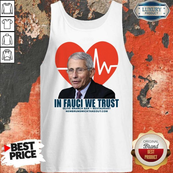 Original In Fauci We Trust Olive Branch Bar And Restaurant Tank Top