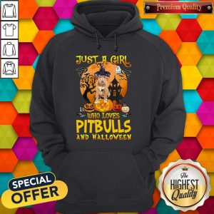 Perfect Just A Girl Who Loves Pitbull And Halloween Pumpkin Hoodie