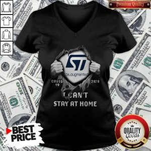 Pretty Blood Inside Me Life Augmented Covid-19 2020 I Can't Stay At Home V-neck