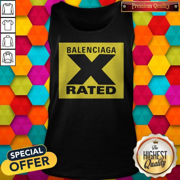 Pretty X Rated Large Balenciaga Yellow Tank Top
