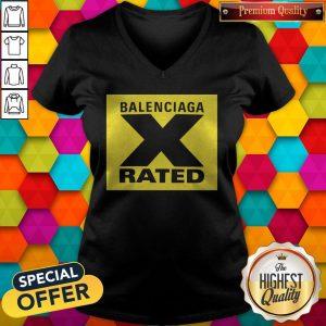 Pretty X Rated Large Balenciaga Yellow V-neck
