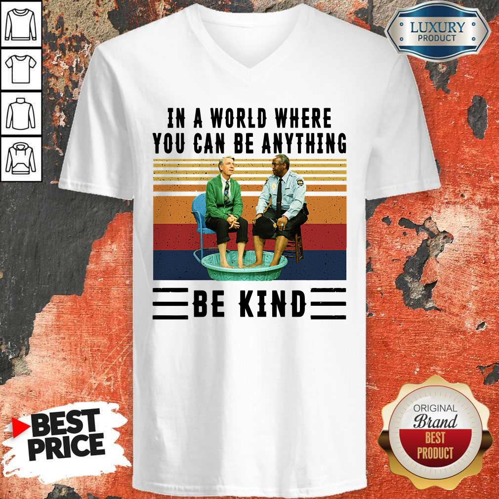 Top In A World Where You Can Be Anything Be Kind Kiddie Pool And Mr Rogers Shirt Warmtees Custom T Shirts Hoodies Apparel