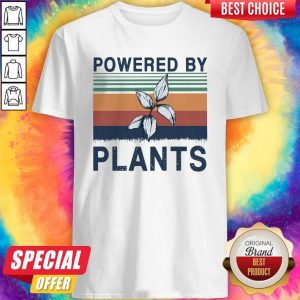 Top Powered By Plants Vintage Shirt