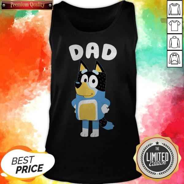Cute Bluey Dad Tank Top