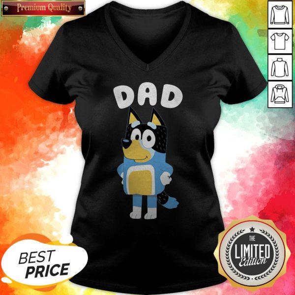 Cute Bluey Dad V-neck