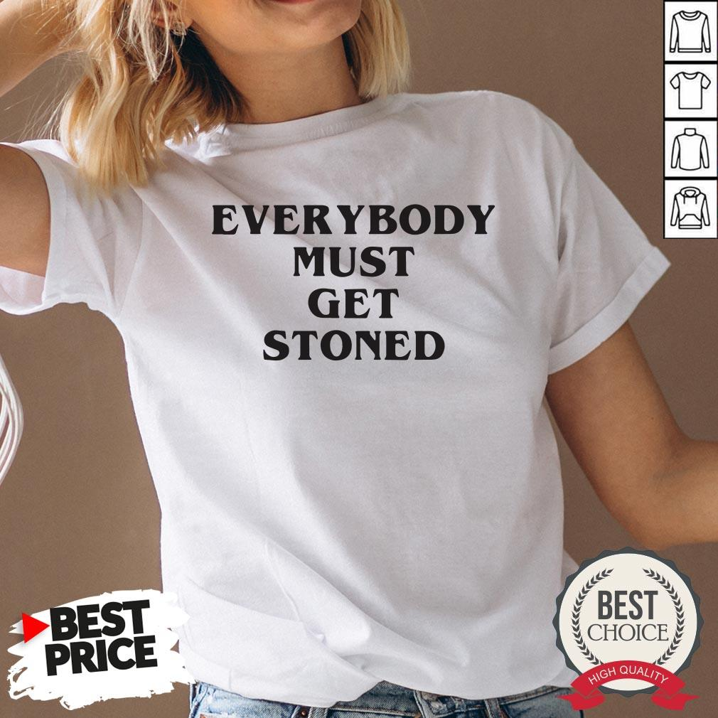 Awesome Everybody Must Get Stoned V-neck - Desisn By Warmtees.com