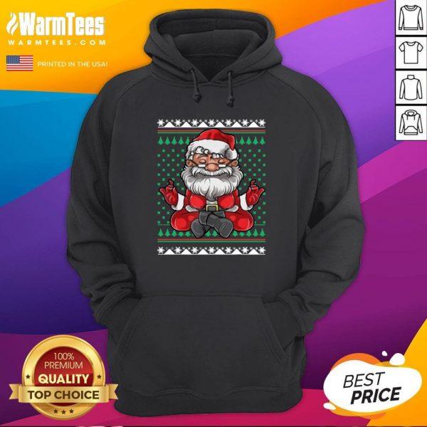 Beautiful Christmas Santa Yoga Hoodie - Design By Warmtees.com