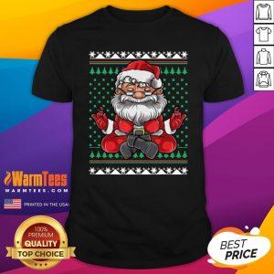 Beautiful Christmas Santa Yoga Shirt - Design By Warmtees.com
