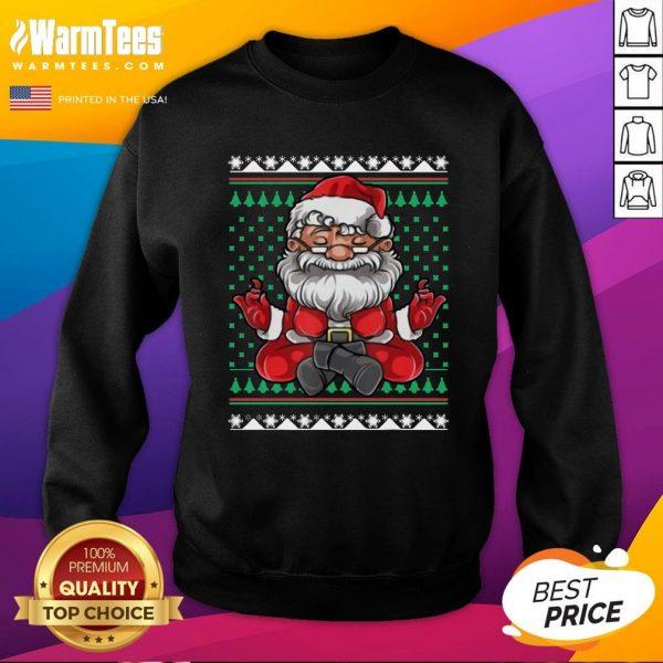 Beautiful Christmas Santa Yoga Sweatshirt - Design By Warmtees.com