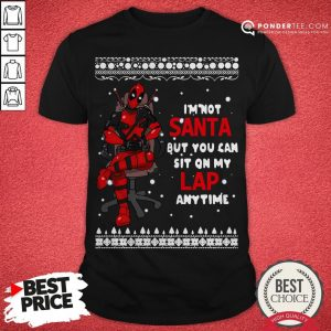 Deadpool I'm Not Santa But You Can Sit On My Lap Anytime Christmas Shirt - Desisn By Warmtees.com