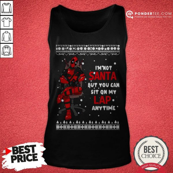 Deadpool I'm Not Santa But You Can Sit On My Lap Anytime Christmas Tank Top - Desisn By Warmtees.com