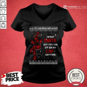 Deadpool I'm Not Santa But You Can Sit On My Lap Anytime Christmas V-neck - Desisn By Warmtees.com