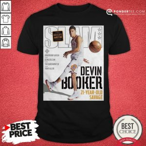 Devin Booker Slam 21 Year Old Savage Shirt- Desisn By Warmtees.com