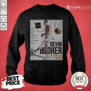 Devin Booker Slam 21 Year Old Savage Sweatshirt - Desisn By Warmtees.com