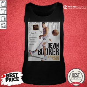 Devin Booker Slam 21 Year Old Savage Tank Top - Desisn By Warmtees.com