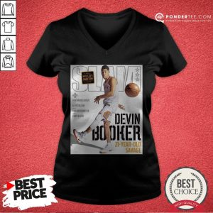 Devin Booker Slam 21 Year Old Savage V-neck - Desisn By Warmtees.com