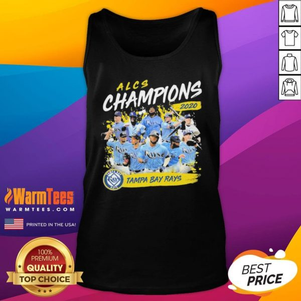 Funny Alcs Champions 2020 Tampa Bay Rays Tank Top - Desisn By Warmtees.com