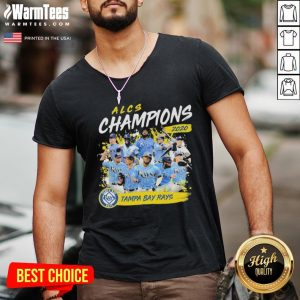 Funny Alcs Champions 2020 Tampa Bay Rays V-neck - Desisn By Warmtees.com