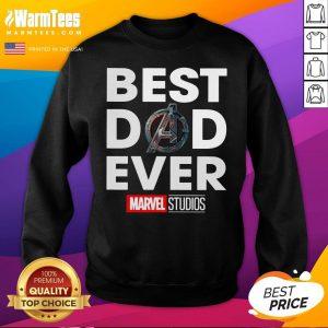 Funny Best Dad Ever Marvel Studios Sweatshirt - Desisn By Warmtees.com