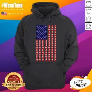 Funny Hockey Dog Lover American Flag Unisex Hoodie - Desisn By Warmtees.com
