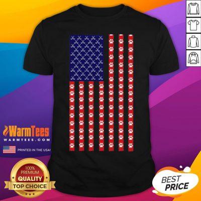 Funny Hockey Dog Lover American Flag Unisex Shirt - Desisn By Warmtees.com
