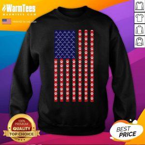 Funny Hockey Dog Lover American Flag Unisex Sweatshirt - Desisn By Warmtees.com