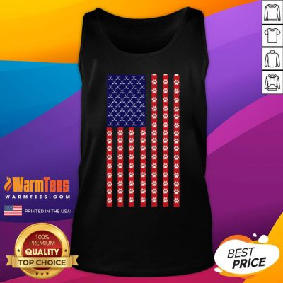 Funny Hockey Dog Lover American Flag Unisex Tank Top - Desisn By Warmtees.com