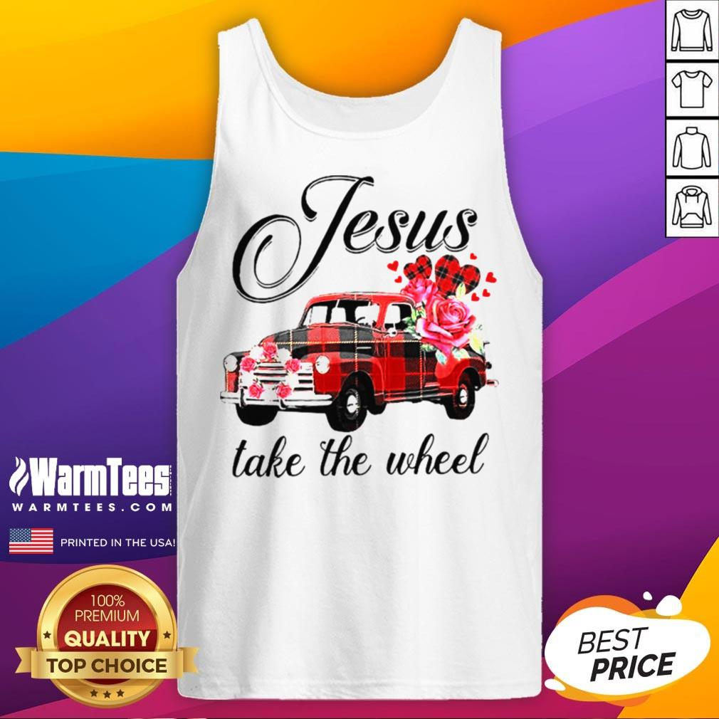 Funny Jesus Take The Wheel Tank Top - Desisn By Warmtees.com
