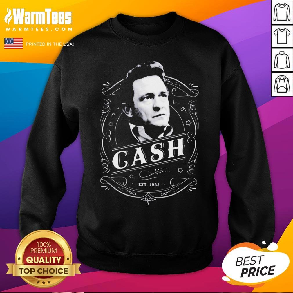 Funny Johnny Cash Merchandise Sweatshirt - Desisn By Warmtees.com