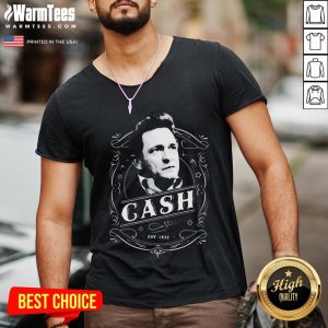 Funny Johnny Cash Merchandise V-neck - Desisn By Warmtees.com
