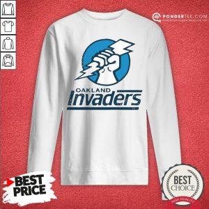 Funny Oakland Invaders Football Sweatshirt - Desisn By Warmtees.com