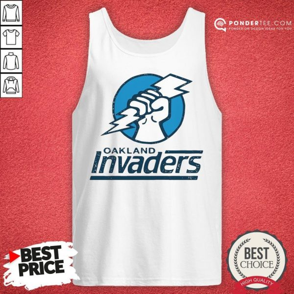 Funny Oakland Invaders Football Tank Top - Desisn By Warmtees.com