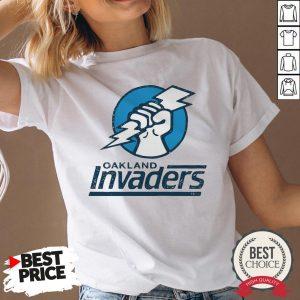 Funny Oakland Invaders Football V-neck - Desisn By Warmtees.com