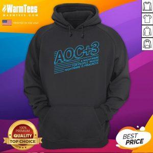Good Aoc Plus 3 A Nightmare For People Whose Nightmare Is Progress Hoodie - Desisn By Warmtees.com