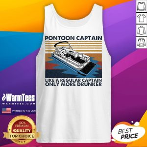 Good Pontoon Captain Like A Regular Captain Only More Drunker Vintage Tank Top - Desisn By Warmtees.com