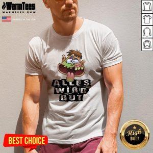 Happy Alles Wird Gut V-neck - Design By Warmtees.com