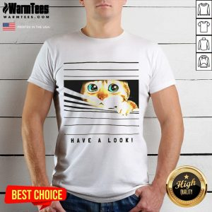 Happy Cat Looked Through The Window Shirt - Desisn By Warmtees.com