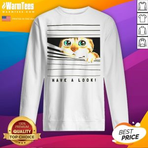 Happy Cat Looked Through The Window Sweatshirt - Desisn By Warmtees.com