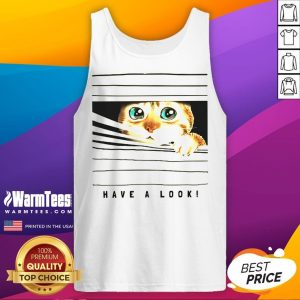Happy Cat Looked Through The Window Tank Top - Desisn By Warmtees.com