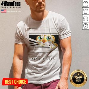 Happy Cat Looked Through The Window V-neck - Desisn By Warmtees.com